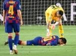 """ميسي يغيب عن تدريبات برشلونة لمدة يومين بسبب """"كدمة كوليبالي"""""""
