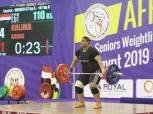 حليمة عباس تحقق 3 ميداليات ذهبية في وزن +87 كجم بالبطولة الأفريقية لرفع الأثقال