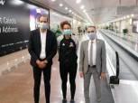 وفد من وزارة الشباب والرياضة يستقبل ميار شريف بمطار القاهرة (صور)
