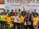 """4 ميداليات حصيلة """"فراعنة"""" الريشة الطائرة ببطولة الكاميرون الدولية"""