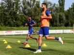 عمرو السولية يشارك في تدريبات الكرة بالأهلي