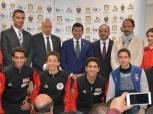 أشرف صبحي يشهد مؤتمر تدشين بطولة الجائزة الكبرى للسلاح
