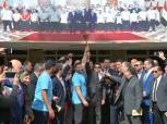 بشعار «المجد لقارتنا السمراء»| أشرف صبحي يطلق شعلة اسبوع الشباب والرياضة لمحافظة أسوان