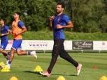 «محارب» يشارك في تدريبات الكرة بمران الأهلي