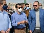 وزير الشباب والرياضة يضع حجر الأساس لفندق نادي قارون بالفيوم«صور»