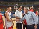 بالصور| وزير الرياضة يؤازر لاعبي المنتخب الوطنى للسلة قبل افتتاح المونديال غدًا