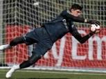 «كورتوا» على رأس قائمة ريال مدريد لمواجهة روما بدوري الأبطال