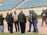 بالصور| وفد الشباب والرياضة يُعاين استاد الإسماعيلية قبل «أمم أفريقيا»