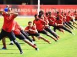 22 لاعبًا في مران الأهلي استعدادًا لمواجهة «حوريا كوناكري»