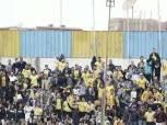 ملعب الإسماعيلية يتزين باللون الأصفر قبل مواجهة الإسماعيلي والأفريقي