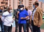 أشرف صبحي يتفقد المدينة الشبابية والرياضية ومركز شباب الأسمرات