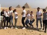 نجوم العالم فى السلاح يروجون للسياحة المصرية بزيارات الاهرامات والمتحف المصرى