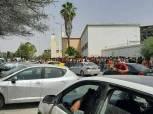 الآلاف من جماهير الترجي يحتشدون أمام ستاد رادس قبل مواجهة الأهلي «صور»