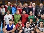 وزير الرياضة يشهد تدريب منتخب اليد استعداداً لكأس العالم بفرنسا