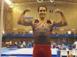 علي أبو القاسم يفوز ببرونزية جهاز الحلق للجمباز بألعاب البحر المتوسط