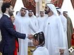 محمد بن راشد آل مكتوم يستقبل «صلاح» في قصر زعبيل