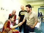 بالصور| «العميد» وقائد بيراميدز يزوران مستشفى «أبو الريش» للأطفال