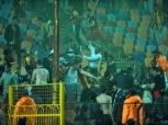 الأمن يخلي مدرج الترجي بعد أحداث الشغب في مباراة الزمالك (صور)