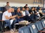 كيروش وجهاز المنتخب يتابعون مباراة بيراميدز وسموحة من ملعب السويس