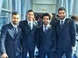 بالصور| لاعبو منتخب مصر بـ«البدل الرسمية» يتوجهون إلى روسيا