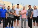 فرج عامر يستقبل أبطال «بطولة القاسمي لكرة اليد»