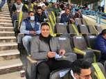 حسام البدري يتابع مباراة الزمالك ضد الجونة من مدرجات بتروسبورت