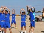 المصري يواصل مرانه الصباحي بمعسكر برج العرب