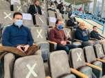حسام البدري يتابع مباراة بيراميدز ضد إنبي من مدرجات بتروسبورت