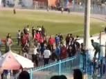 بالصور| اشتباكات عنيفة بين جولدي والبنك الأهلي في مباراة الصعود للترقي
