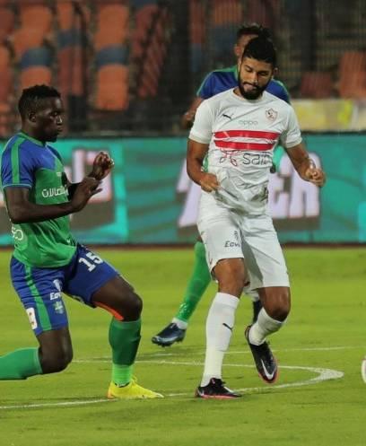 لقطات من مباراة الزمالك ومصر المقاصة في الدوري العام