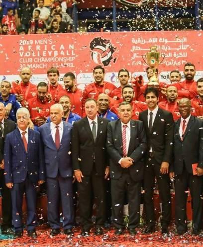 الأهلي يتوج ببطولة أفريقيا للكرة الطائرة بعد الفوز على سموحة 3-0