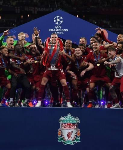 لحظة تتويج ليفربول ببطولة دوري أبطال أوروبا