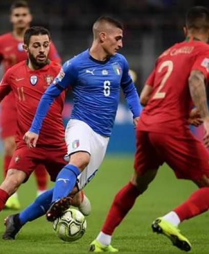 البرتغال أول المتأهلين لنصف نهائي دوري الأمم الأوروبية بالتعادل أمام إيطاليا