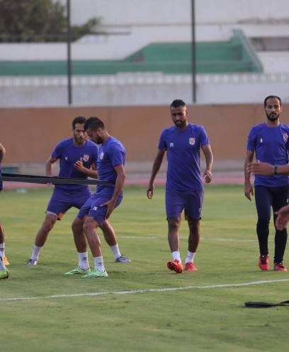 تدريبات الأهلي استعدادا لمواجهة المقاولون في الدوري