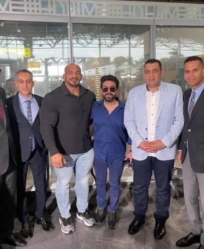 استقبال بيج رامي في مطار القاهرة بعد فوزه بمستر أولمبيا