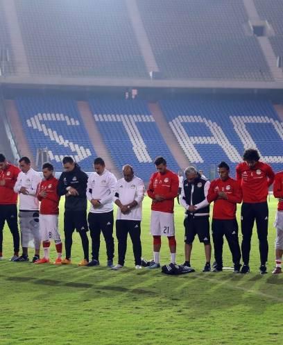 تدريبات منتخب مصر للقاء غانا في تصفيات كأس العالم روسيا 2018
