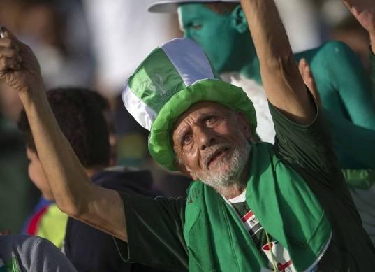 استعدادات جماهير المصري لمباراة جريب بافلوز