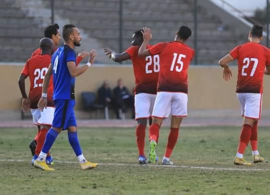 مباراة الأهلي وجمهورية شبين الودية