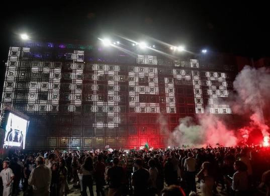 احتفالات جماهير الجزائر بعد التتويج ببطولة أمم أفريقيا
