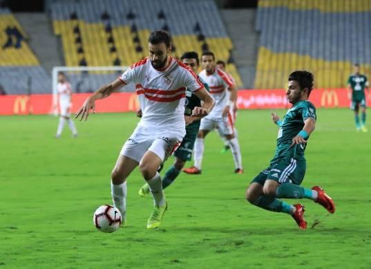 مباراة الزمالك والمصري في الدوري العام