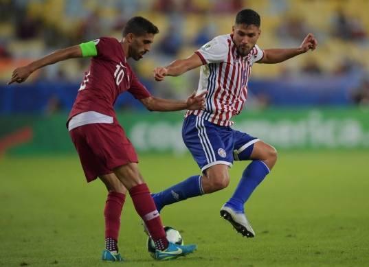 مباراة قطر وباراجواي في بطولة كوبا أمريكا