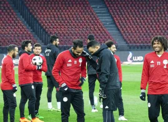 بالصور| المنتخب الوطني يؤدي تدريبه الأخير قبل مواجهة البرتغال