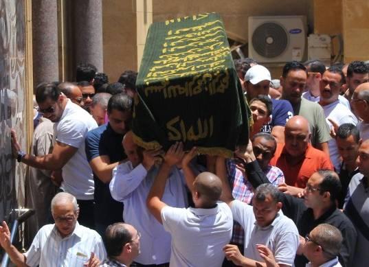 جنازة سيف العماري عضو الزمالك السابق