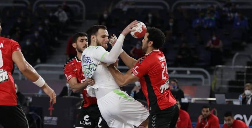 منتخب مصر يتأخر أمام الدنمارك 16/13 في الشوط الأول بمونديال اليد