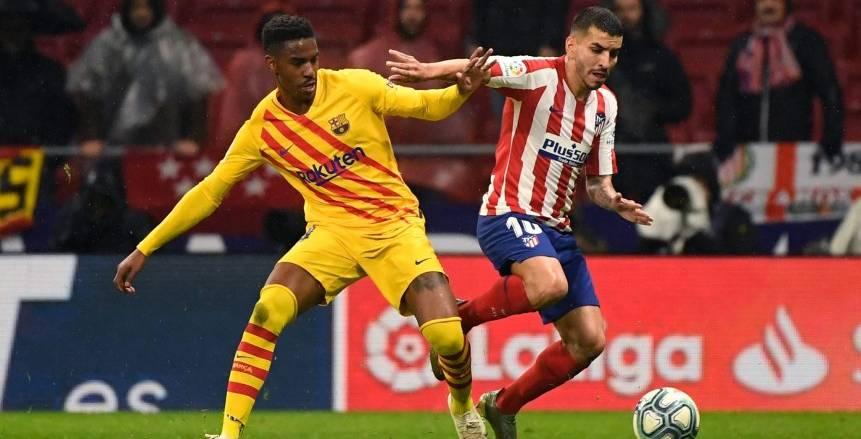 الدوري الإسباني.. تعادل سلبي بين برشلونة وأتلتيكو مدريد في شوط أول مثير