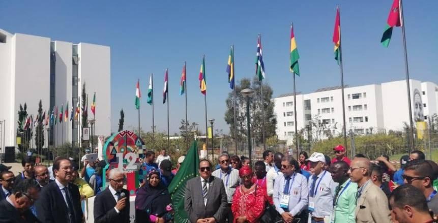 بالصور.. مراسم نقل علم اللجان الأولمبية لملعب افتتاح الألعاب الأفريقية