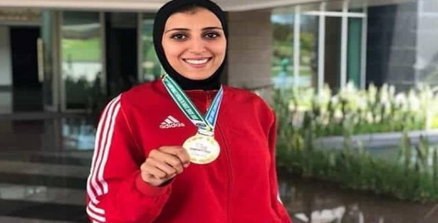 جيانا فاروق تصل القاهرة بعد التتويح بذهبية البريميرليج باليابان
