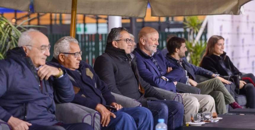 بالصور.. وزير السياحة يتابع بطولة كرة الماء بنادي الجزيرة