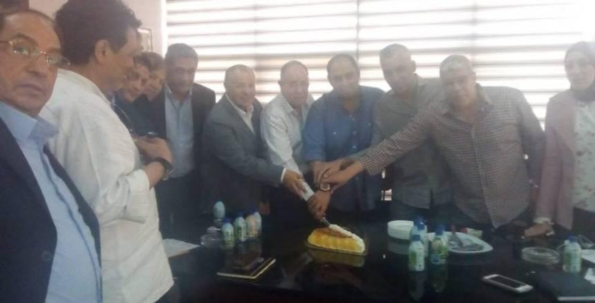 بالصور.. اتحاد الكرة يحتفل بفوز كرم كردي بمنصب نقيب الصيادلة