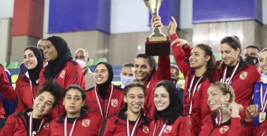 آنسات سلة الأهلي بطلات السوبر المصري